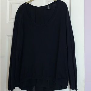 Kenneth Cole sweater with chiffon back